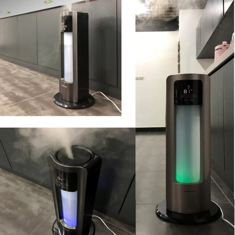220V Household 4.5L Electric Air Humidifiers Automatic Humidity Function Mist Maker With Colorful Light EU/AU/UK/US Plug