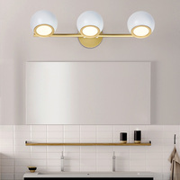 (LED Light Source Include) Nordic Led Wall Light Warm/Cold/Natural White Wall Lamp bathroom lamp for mirror Black/White wandlamp