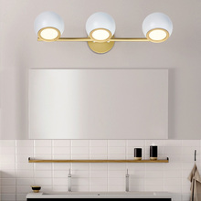 (LED Lichtquelle Enthalten) nordic Führte Wand Licht Warm/Kalt/Natürliche Weiß Wand Lampe badezimmer lampe für spiegel Schwarz/Weiß wandlamp