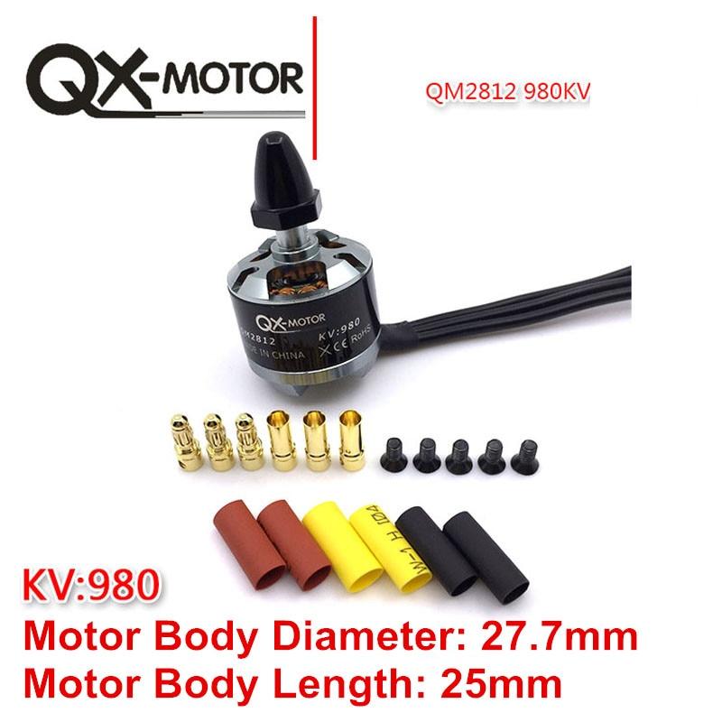 4Pcs QX Motor CW CCW QM2812 2212 980KV Brushless Motor for F330 F450 F550 X525 Multicopter