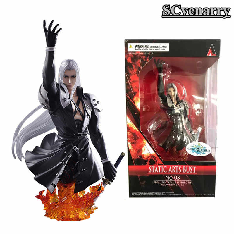 Anime 7 Jogue Arts Kai Final Fantasy Sephiroth Guerreiro da Luz PVC Action Figure 10 CM