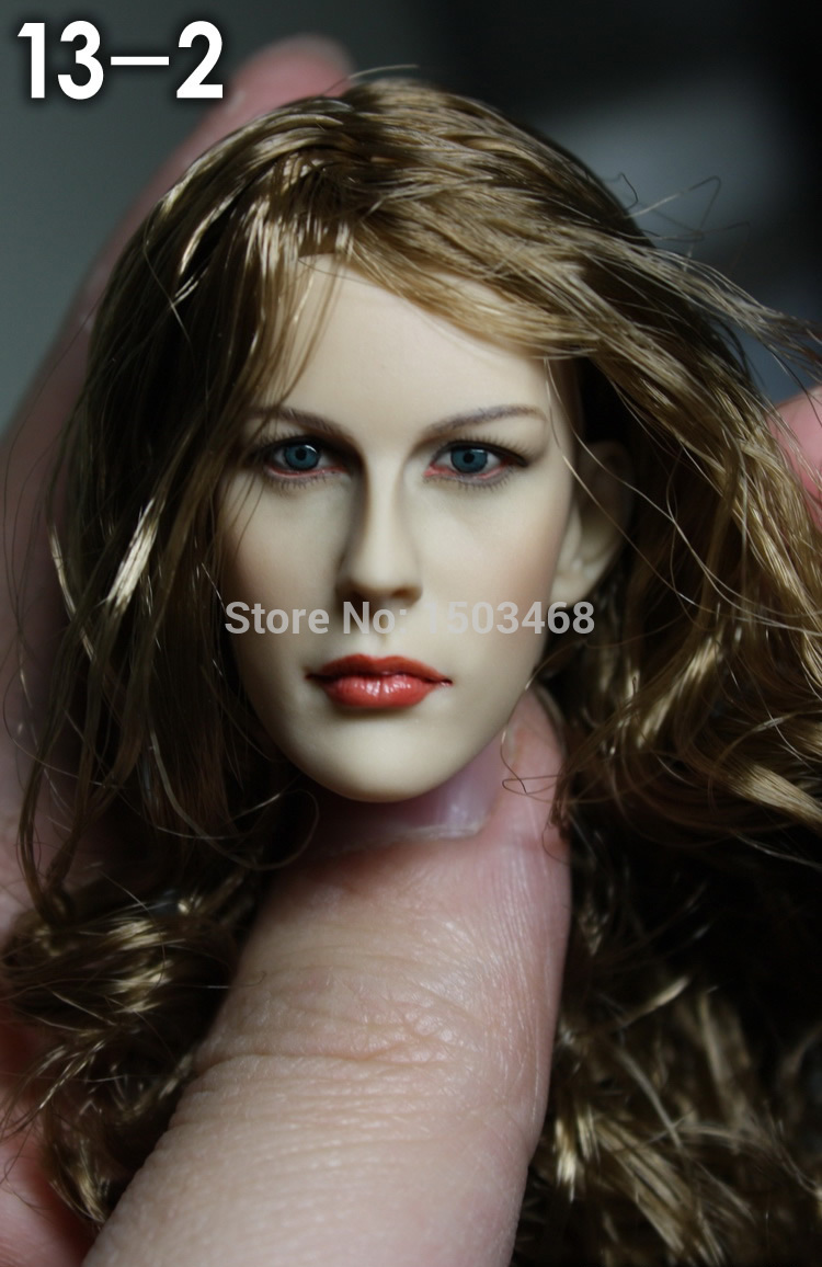 1/6 scale female head shape for 12 action figure doll accessories doll head carved not include the body,clothes and other 13-2 1 6 figure doll head shape for 12 action figure doll accessories game of death bruce lee head carved not include body clothes