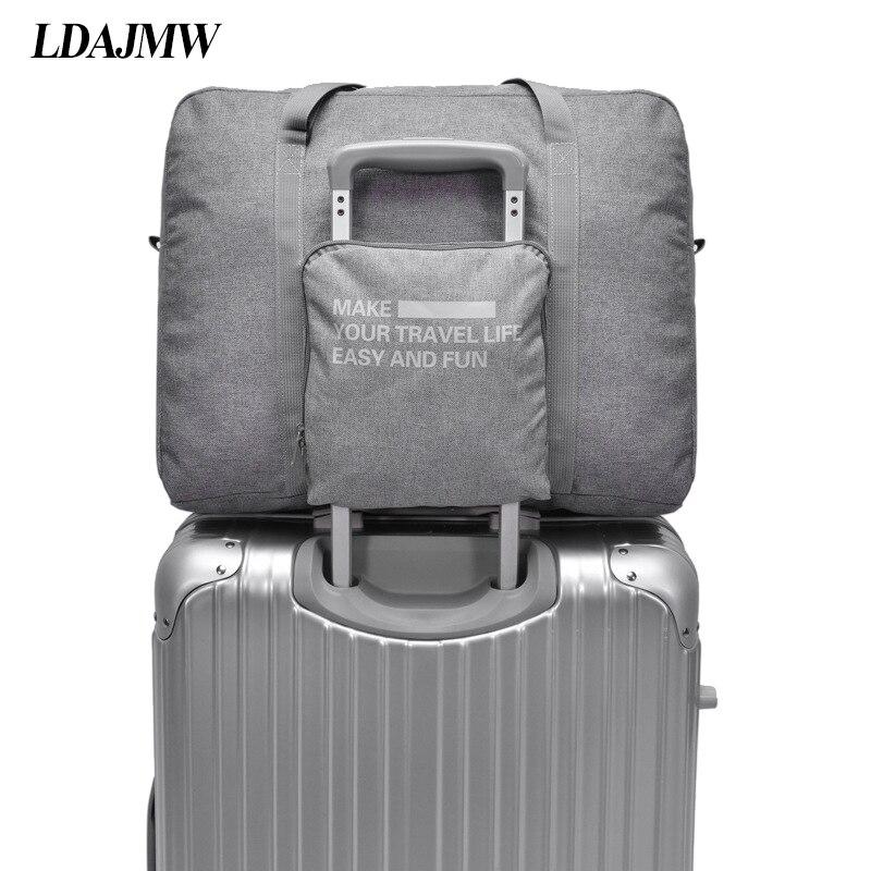 LDAJMW Étanche Grande Capacité bagages Emballage Fourre-Tout/Épaule Voyage Shopping Grand Sac Pliage Vêtements Pochette De Rangement Organisateur