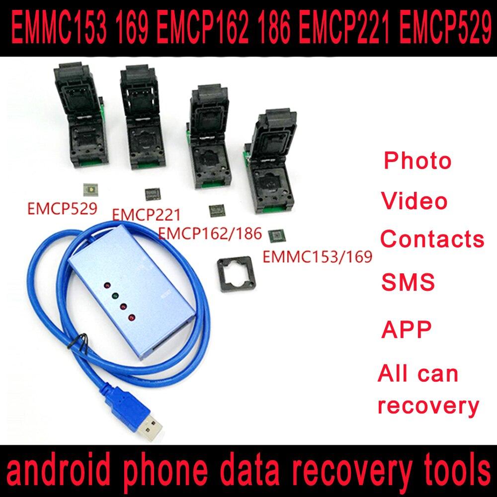 EMMC153 169 EMCP162 186 EMCP221 EMCP529 socket 6 in 1 emmc emcp data recovery tools for android phoneEMMC153 169 EMCP162 186 EMCP221 EMCP529 socket 6 in 1 emmc emcp data recovery tools for android phone