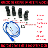 EMMC153 169 EMCP162 186 EMCP221 EMCP529 socket 6 in 1 emmc emcp data recovery tools for android phone