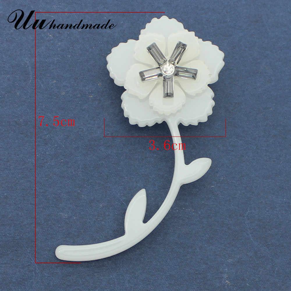 Broche de flores Pin de solapa alfileres de acrílico Broches Vintage joyería Broches de moda para vestidos de mujer 2017 Ramos de boda