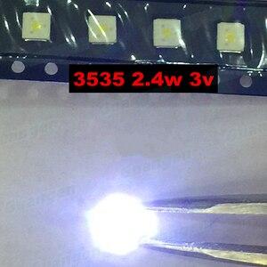 Image 2 - 200 sztuk lumenów podświetlenie LED Flip Chip LED 2.4W 3V 3535 fajne białe 153 lm dla SAMSUNG LED LCD podświetlenie aplikacji TV
