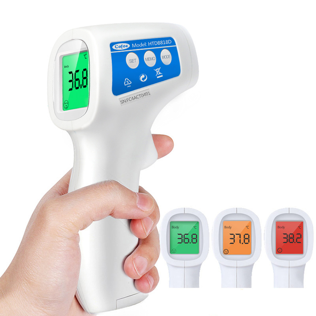 Cofoe Forehead Infrared Thermometer Body Temperature Fever Digital Measure Meter IR Non Contact Portable Tool for Baby Adult 1