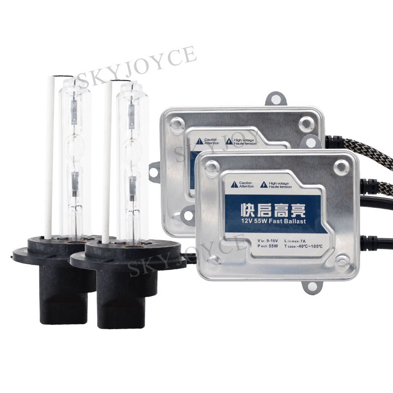 Premium 55W Bulb H7 HID Conversion Kit AC 55W Fast Bright HID Ballast 6000K Bulb H1