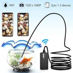 Image 4 - Cámara endoscópica Ancel WIFI 5,5 MM cámara de inspección usb 1080P para iPhone Android PC IP67 impermeable Cámara boroscopio semirrígido