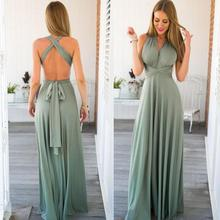 Top Selling Style Method Of Multi Rope Cross Bandage Dress Sexy Halter Dress Long Dress Summer Dress