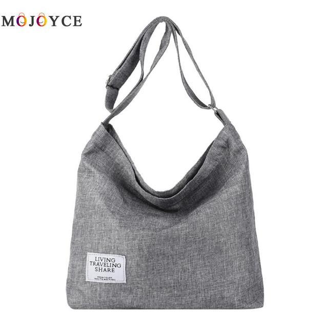 b193b25c48 Canvas Shoulder Bags Women Girls Totes Large Capacity Casual Messenger Bags  Handbags Crossbody Bag for Women