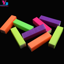 10pcs/lot Buffing Sanding Buffer Nail Files Fluorescent Color Block Manicure