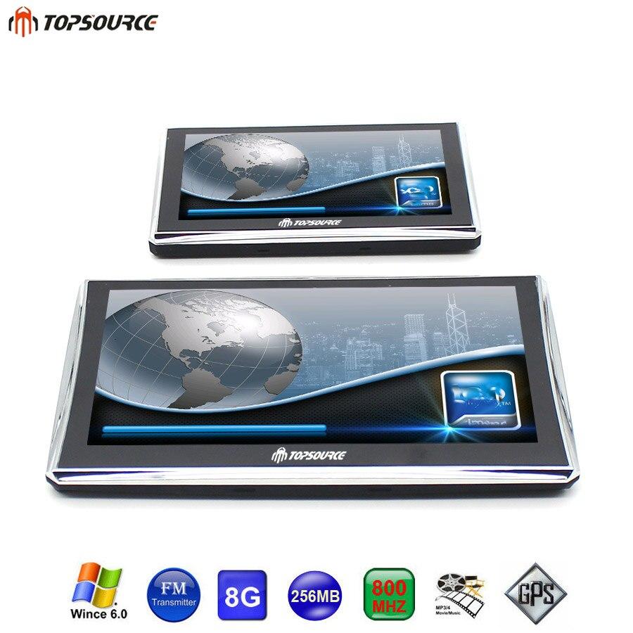 7 Inch Or 5 Inch HD Car GPS Navigation FM 8GB 256MB 800MHZ Vehicle Truck GPS
