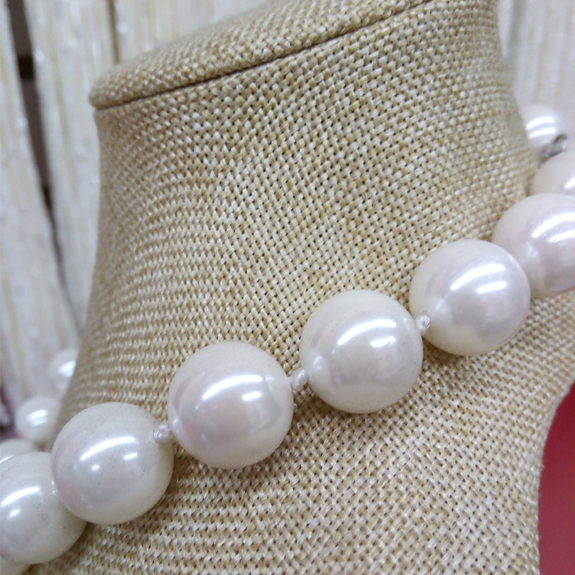 fine 8-20MM  WHITE round South Sea Shell Pearl Necklace