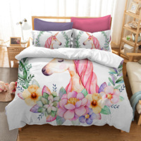 Bedding Set Duvet Cover Unicorn 3D Printed Home