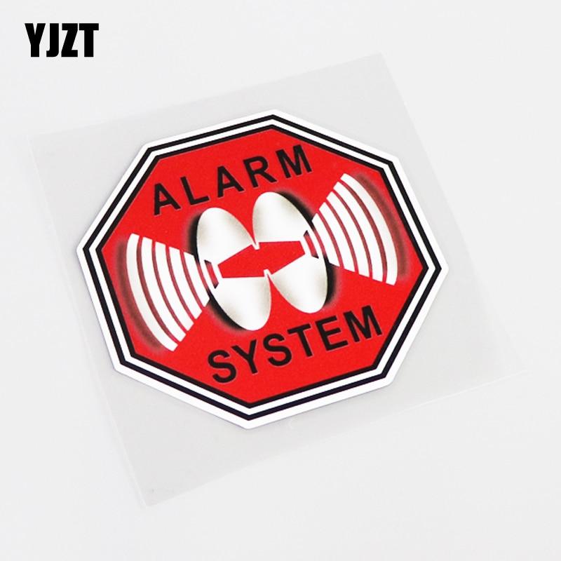 YJZT 10,3 см * 10,3 см, модная Высококачественная Автомобильная наклейка с сигнализацией, наклейка из ПВХ, графическая наклейка 13-0421