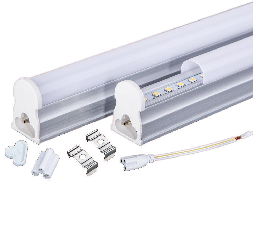 PVC Plastic 9W LED Tube T5 Light 110V 220V 240V 60cm led T5 lamp led wall lamp Warm Cold White led fluorescent T5 neon цена