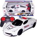 2016 1:18 4CH RC Carro Da Polícia Modelo de Brinquedos Do Bebê de 4 Canais Carro de Controle remoto Micro Corrida De Carros Crianças Presentes Brinquedos Para Crianças