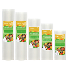 Вакуумный пластиковый пакет для хранения, домашний вакуумный упаковщик, пищевые пакеты 12 + 17 + 20 + 25 + 28 см * 500 см, 5 рулонов в партии, рулоны для вакуумной упаковки
