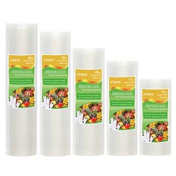 Vacuum Plastic Bag Storage home Vacuum Sealer Food Bags 12+17+20+25+28cm*500cm 5 Rolls/Lot Vacuum Packaging Rolls - DISCOUNT ITEM  44% OFF All Category