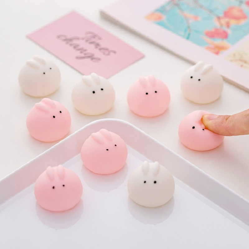 Mini Cute Rabbit Springback Toys Squishy Antistress Ball Squeeze Mochi Rising Abreact Soft Sticky Stress Relief Funny Gift Toys