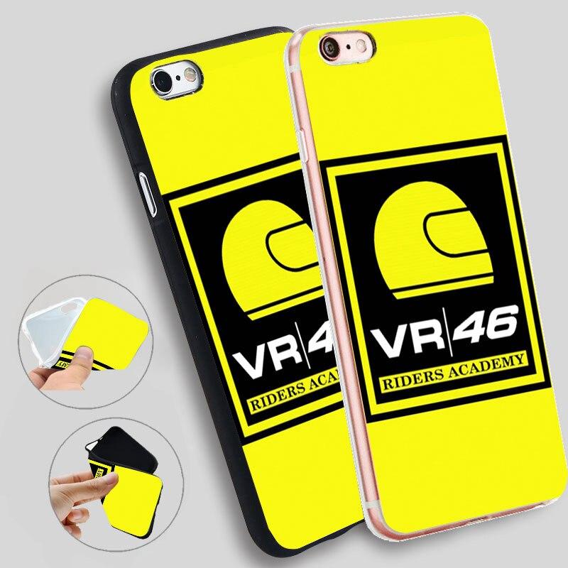 Minason Logo Vr46 Riders Academy Capa Soft Silicone Case for iPhone X 5 S 5S 6 6S 7 8 Plus Cover Phone Fundas Capinha de Celular