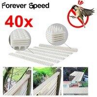 40Pcs Bird Repeller Environmentally Plastic PP Pigeon Nail Anti Dove Pest Control SPikes Harmless To Animal 49x4.5x2cm
