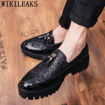Brogue-Zapatos De boda De diseñador italiano para Hombre, calzado elegante, clásico, De...