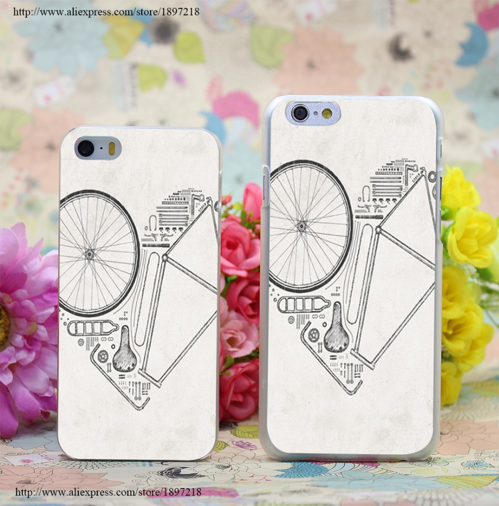 1840W Love Bike Transparent Hard Case Cover for iphone 7 7 Plus 6 6s plus 4 4s 5 5s SE 5c