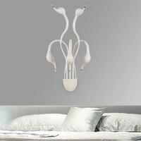 Новый Дизайн Swan Бра Спальня Изголовье Ночники banheiro LED Гостиной Свет Настенного Бра лампе деко