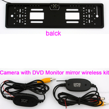 Wireless Transmitter receiver Auto Car Vehicle Reverse Rear View Backup Park camera for European Europe Car License Plate Frame