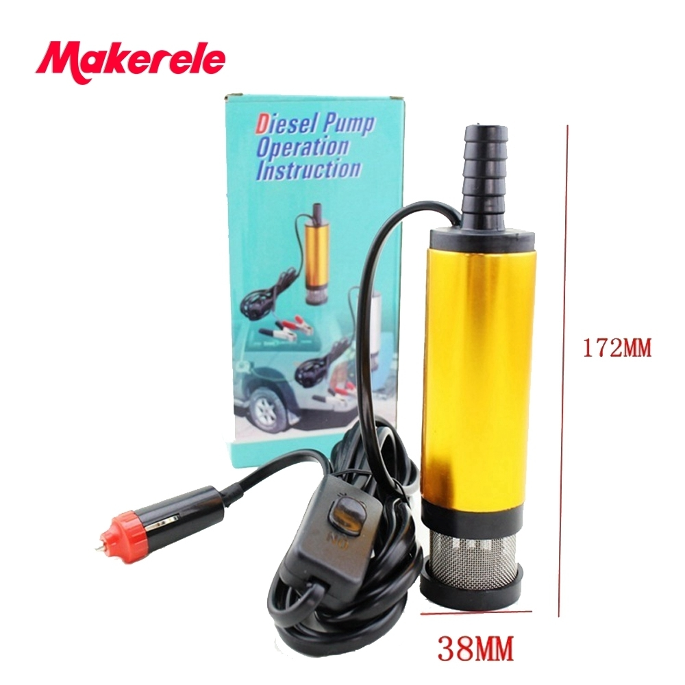 38MM Aluminium Alloy Oil Diesel Fuel Water Pump 12V Transfer Pump for Car Caravan Marine Boat With Automobile Adapter in Pumps from Home Improvement
