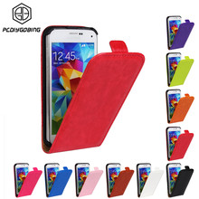 15947cf6153 Lujo retro color pu cuero vertical Flip CASE para Samsung Galaxy S2 S3 S4  S5 mini