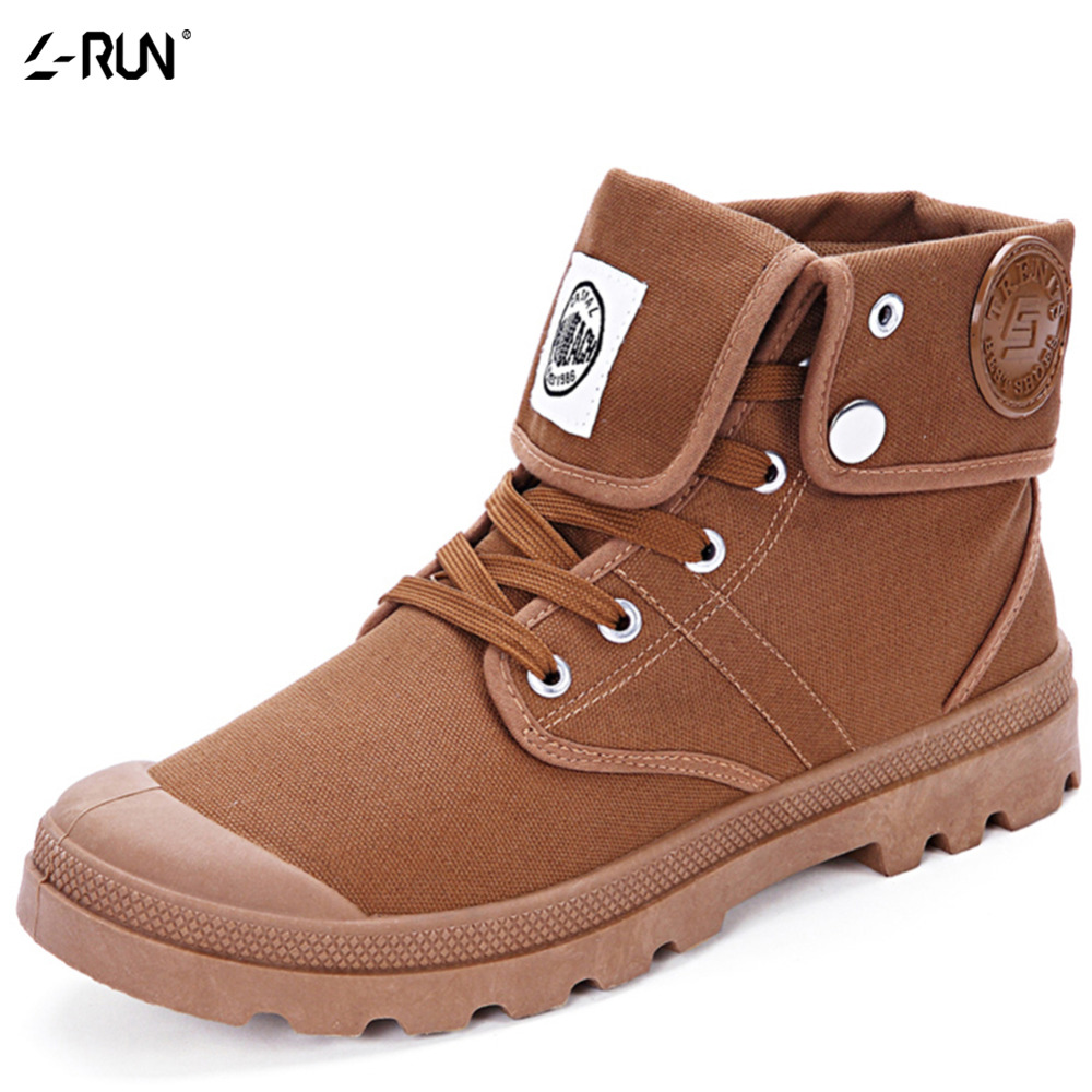 Mens Shoes Casual High Top Canvas Men Black/Brown Winter Men's Lace-up Zapatos Hombre Sapatos Masculinos