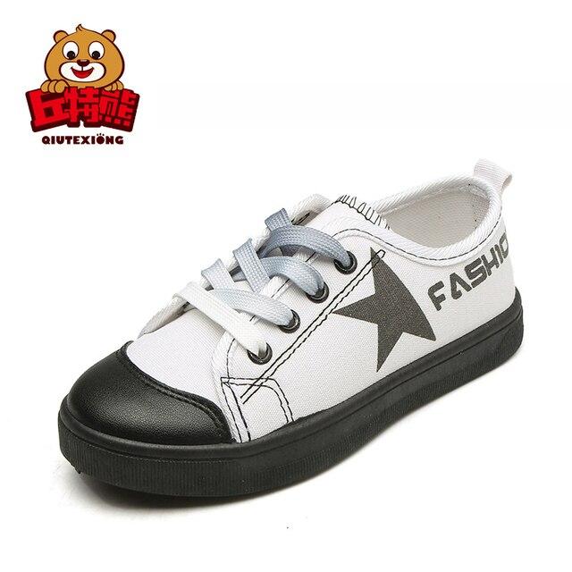 Kinderschoenen.Girls Shoes Kids Canvas Shoes 2018 Star Design Boys Sneakers Quality