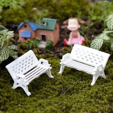 10Pcs lot Mini Garden Decoration Chairs Fairy Garden Miniatures Terrarium Figurines Chair Craft Decoration Terrarium Figurine cheap Pastoral Architecture Resin Ladyhouse