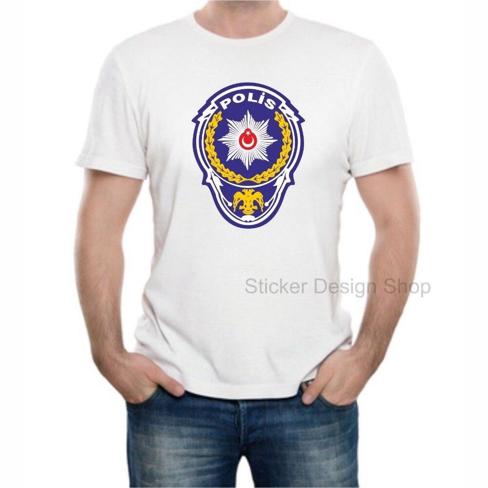 New Tops 2019 Print Letters Men T-Shirt Polis Logo T-Shirt Druck Baumwolle Turkiye Istanbul  T-Shirt