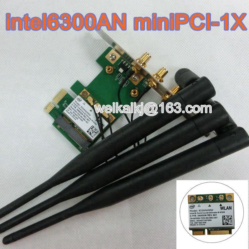 Intel Ultimate n 6300 PCI 1X Card 633anhmw 802 11a b g n 2 4 Ghz