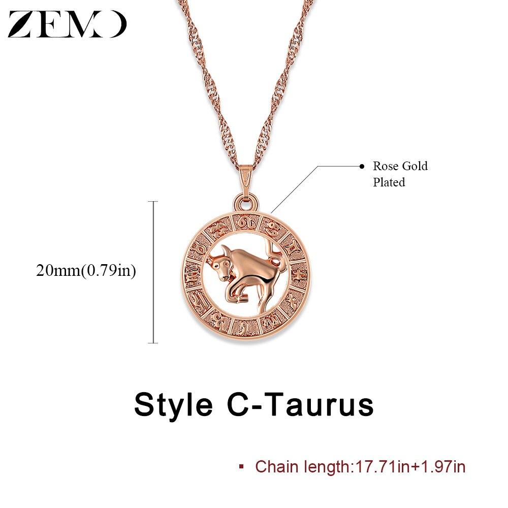 Twelve constellation jewellery
