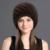 QiuMei Chapéu de Pele de Vison Para Mulheres Inverno Chapéus Moda Forrado 2017 Feminino Gorro de Pele de Malha Novas Tampas de Abacaxi Natural Verdadeira Pele De Vison chapéu