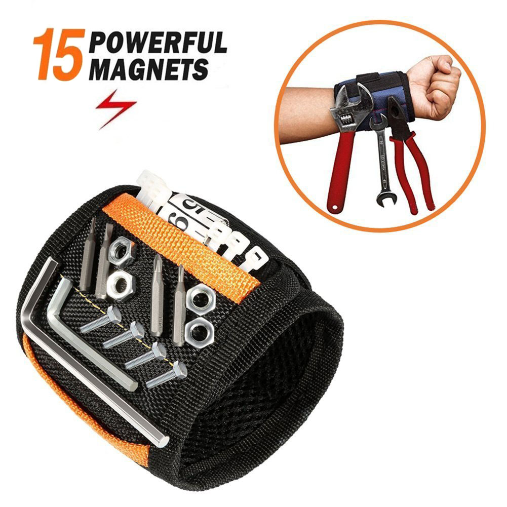 Super Magnetic Wristbands Holding Repair Tools Breathable Wrist Electrician Woodworker, Screw Collection Wristband Strap -KK