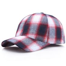 Baseball Cap Women Men Plaid Cotton Peaked Hat Headwear Outdoor Sports Wear With Adjustable Back Closure