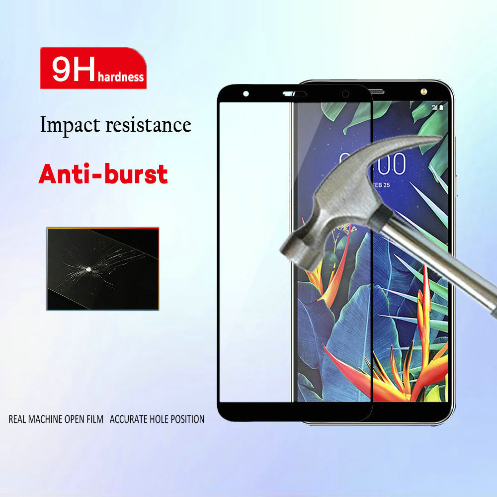Screen-Protector Full-Glue-Cover Lg K40 Tempered-Glass For Lm-x420em/9d/6d/5d Lm-X420emw-Glass-Film