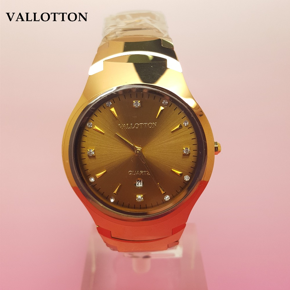 VALLOTTON Brand New Luxury Mens Quartz Waterproof Watch Simple Business Lady watch Tungsten Steel WatchVALLOTTON Brand New Luxury Mens Quartz Waterproof Watch Simple Business Lady watch Tungsten Steel Watch