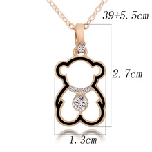 Lovely Bears love crystal necklace