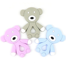 hot deal buy baby training teethers safe food silicone cartoon bear toddler chew toys teething gift for infant toy teething baby products