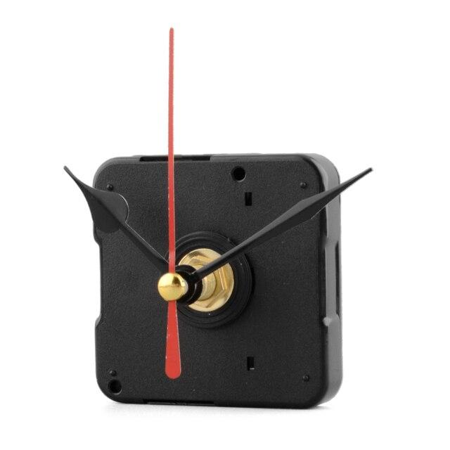 Silencioso Movimento Do Relógio De Quartzo Mecanismo de Vermelho e Preto Parte Da Mão Conjunto de Ferramentas de Reparo Ferramentas de Peças De Relógio De Parede Acessórios Para Casa Deco