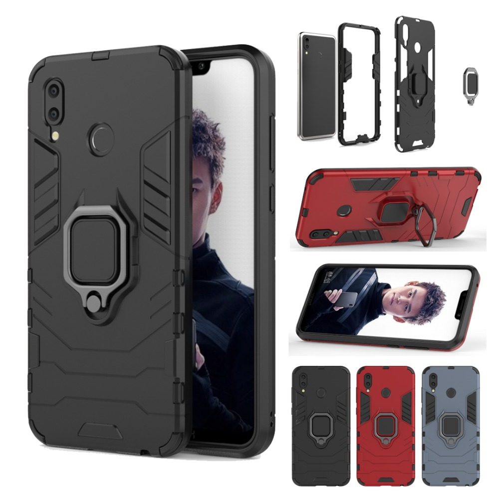 Armor Car Holder Case For HUAWEI Y9 Y6 Y7 Pro 2019 P30 P20 Pro P30 P20 Lite Y9 2018 Magnetic Ring 360 Shockproof Back Cover Capa