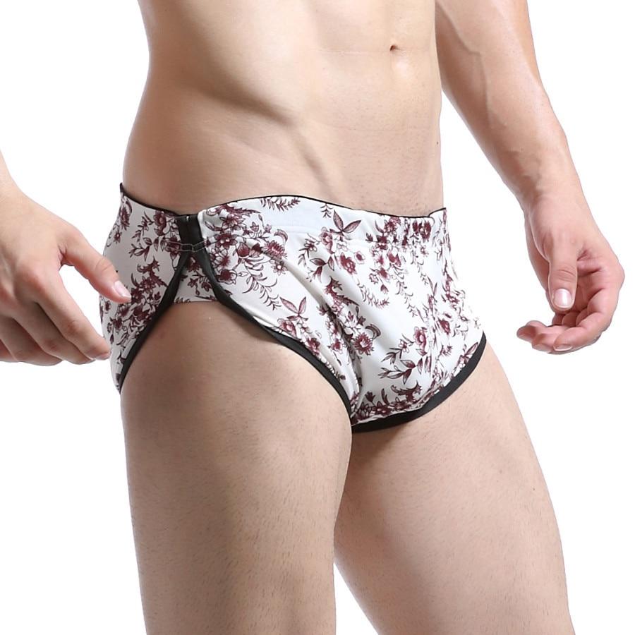 WJ Men's Causal Shorts Brand Clothing Men Boxers Cotton Breathable Workout Shorts Fashion Sleepwear Bermuda Man Gay Homewear